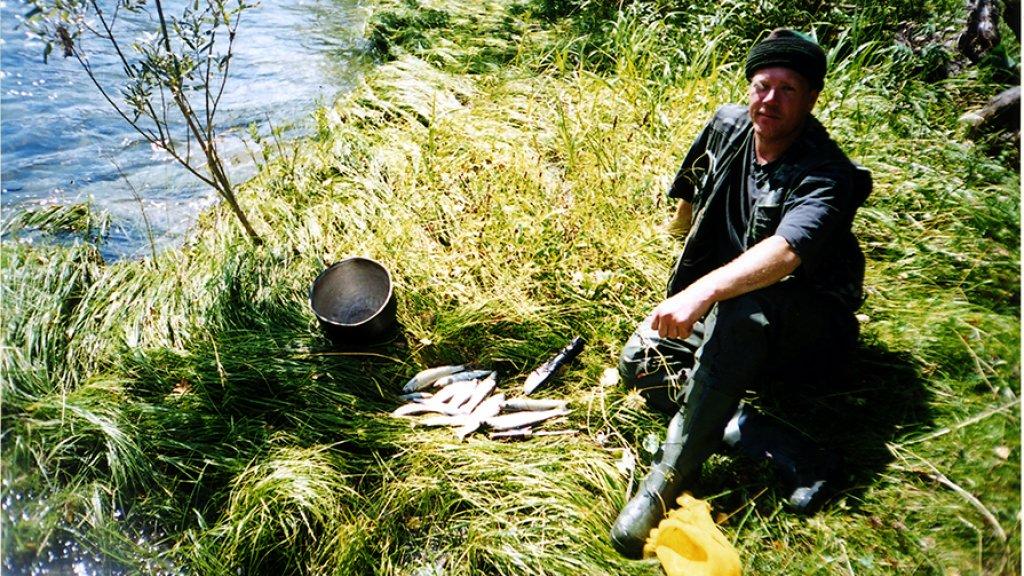 Первая рыбалка на горной реке