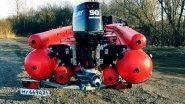 Тестирование тоннельной ПВХ лодки СТРИЖ JET 480 под водометом MERCURY 50, г  Красноярск