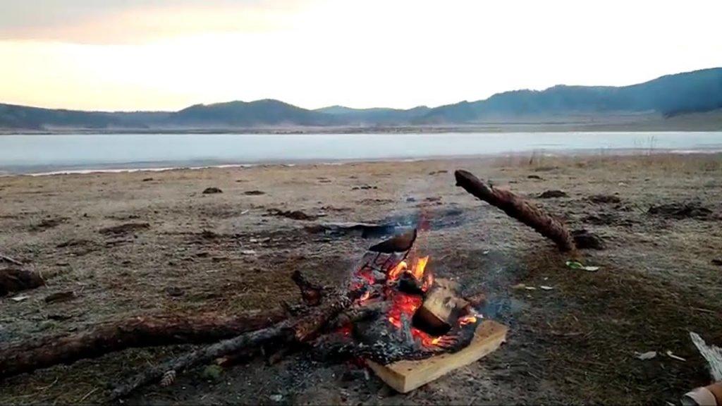 Подарок хана Алтая часть 2. Необычайное закрытие сезона на льду горного озера.  Altai, Siberia