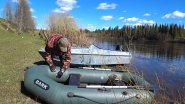 "Сплав по реке  ""пижма"" за пропавшей лодкой!"