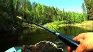 На моторе по таежной реке / рыбалка на спиннинг / таймень 340нднд+hidea 9.8 / наедине с тайгой