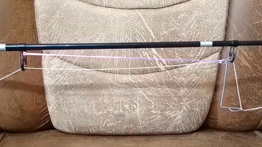 Изготовление простого подсекателя для спиннинга из проволоки и резинки
