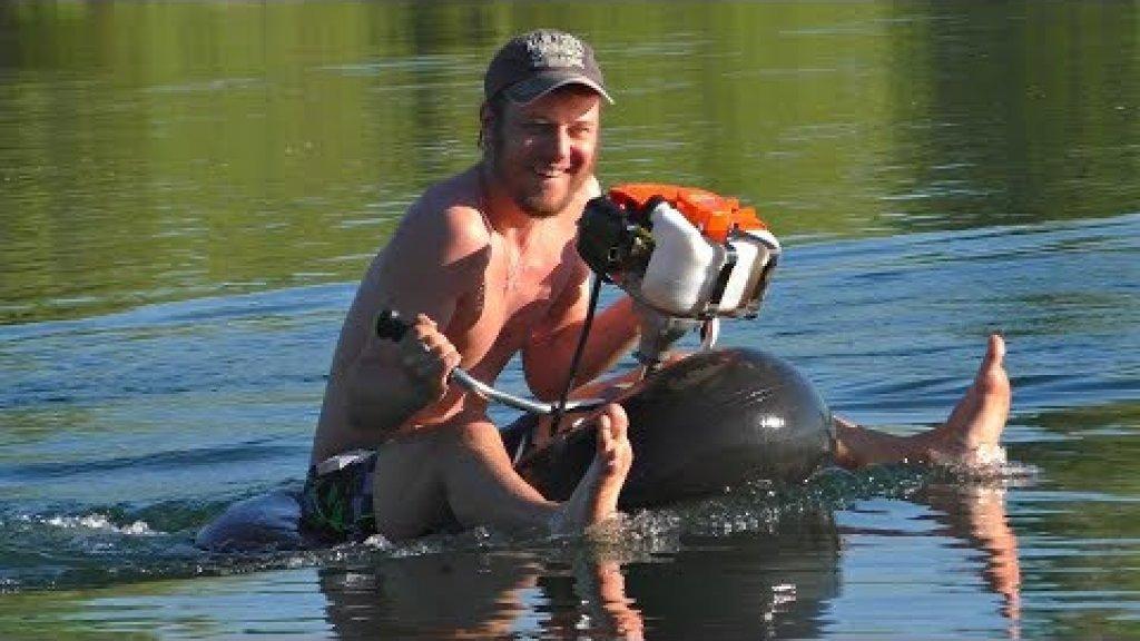 Юркая лодка из Мото-Косы и камеры от Камаза :) Сделай и себе такой же прогулочный катер!