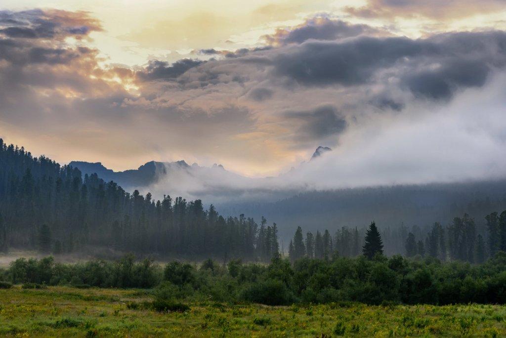 мой путь лежит туда, где виднеется гора в тумане...