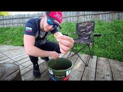 Мощная поклёвка рыбы/готовым золотую форель с овощами на углях!