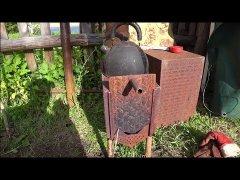 Чудо печка в палатку. Отопление в мобильный балок. Самодельная печка.