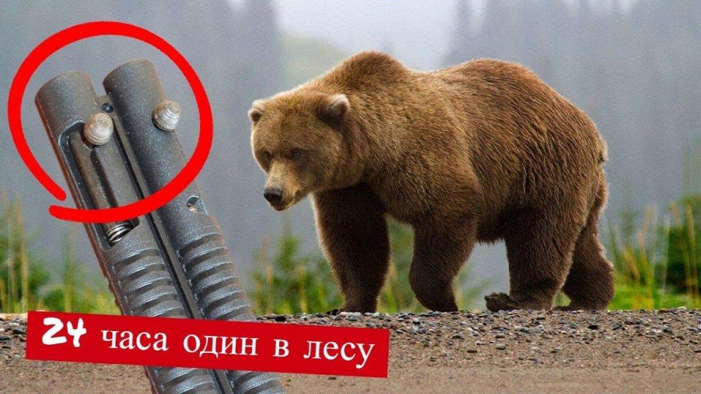 24 ЧАСА В ЛЕСУ   Один из способов защиты от медведя