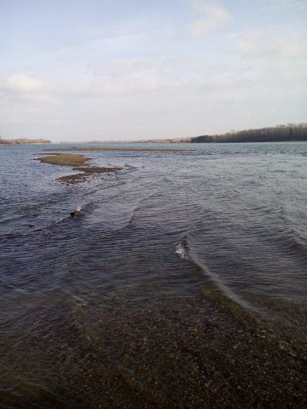 Река Обь, начало ноября.