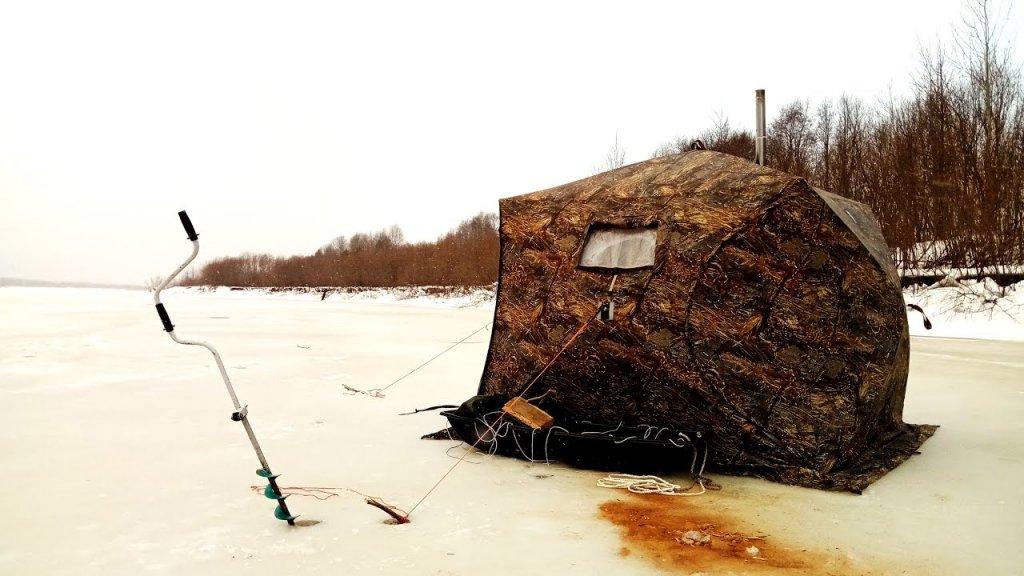 Дом на льду! / открытие подледной рыбалки 2019 / палатка берег / наедине с тайгой