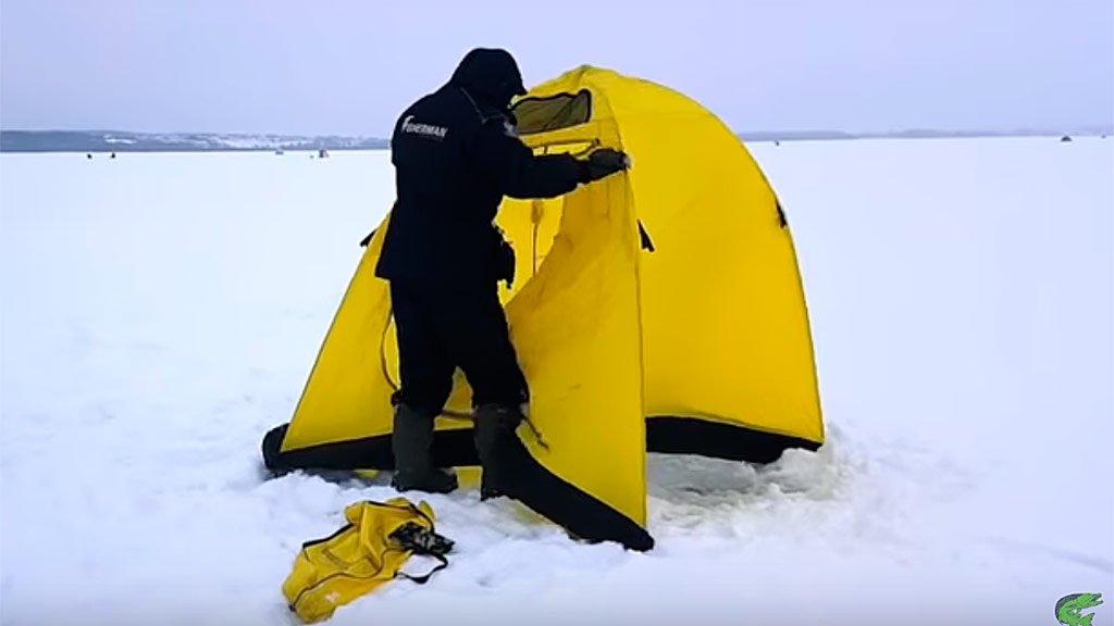 Палатки для зимней рыбалки: плюсы и минусы