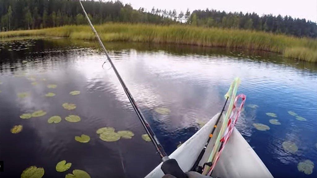 Осенние поиски щуки на малом озере. Ищем осенние трофеи.