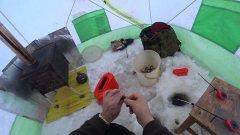 Рыбалка в палатке. Постановка продольников на налима