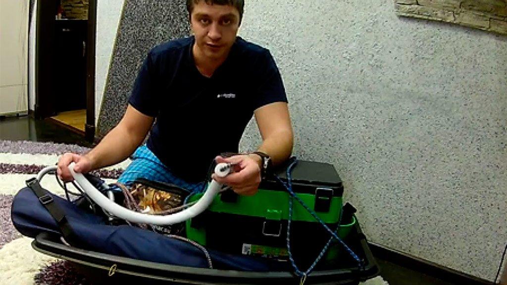 Подготовка саней волокуш для зимней рыбалки