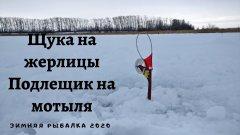Щука на жерлицы, Подлещик на мотыля, Зимняя рыбалка 2020