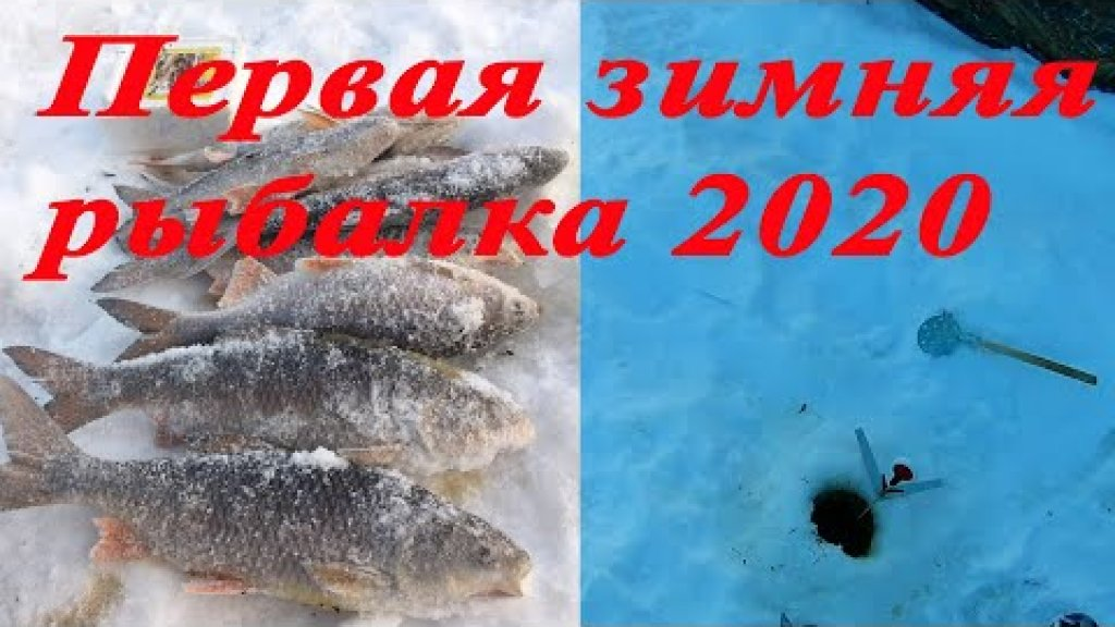 Первая зимняя рыбалка 2020 года. С новым годом!