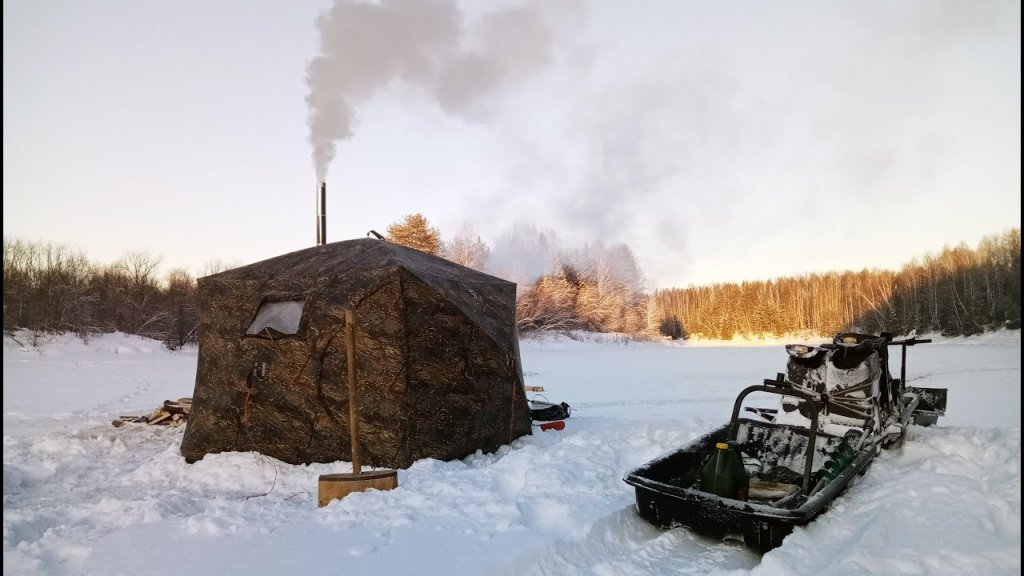 Прорываемся к реке / 2 дня на льду как дома / ночевка в палатке / рыбалка на жерлицы 1 часть