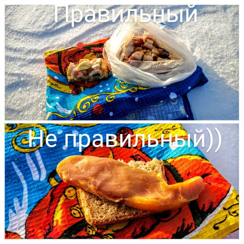 Виды бутербродов для рыбалки))