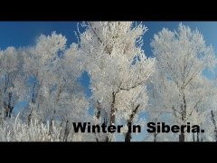 Winter in Siberia.
