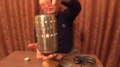 Печка для зимней рыбалки своими руками. Греет очень здорово!