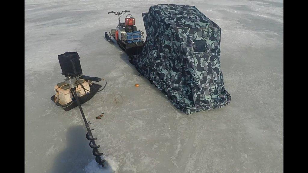 Реальная рыбалка с самодельным ледобуром шуруповертом за 1200 рублей…