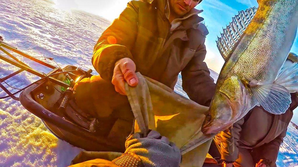 Не зря ехали! Ловля судака на раттлины (вибы)! Рыбалка весной!