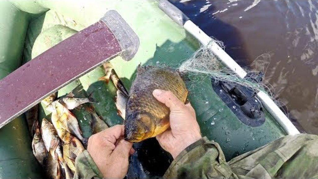 Рыбалка сетями. Сети порваны, снимаю.
