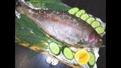 Лёгкий и быстрый рецепт радужной форели с лимоном и зеленью в фольге в духовке по-рыбацки.