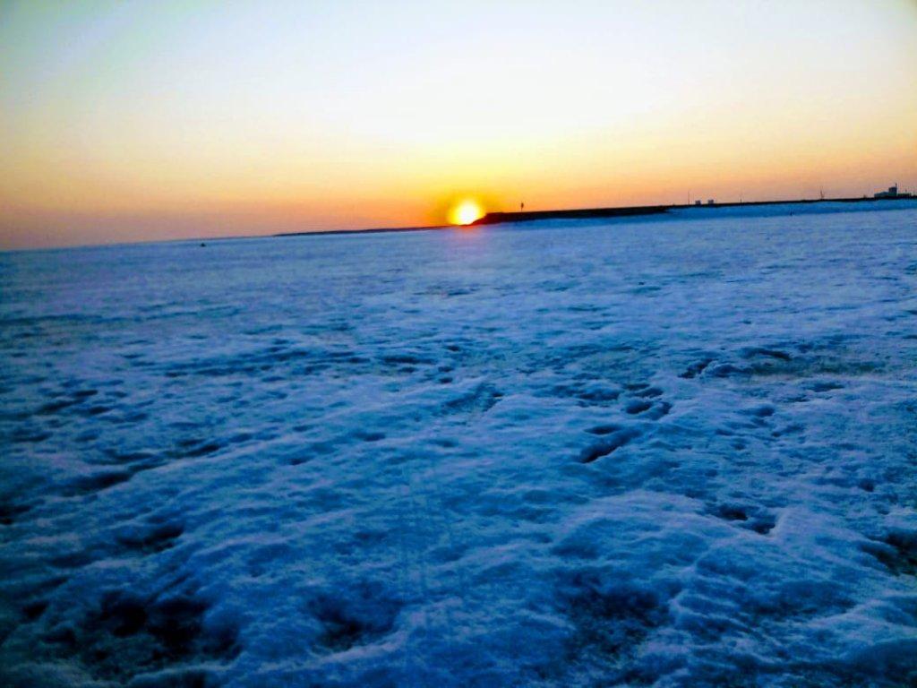 Морской закат .