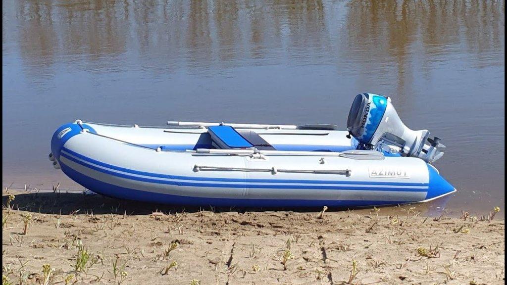 Honda BF20 и лодка Азимут Вектор 370
