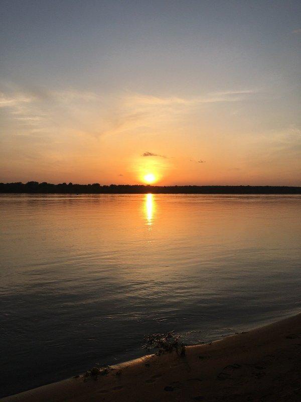 Закат в Нижней Ельцовке