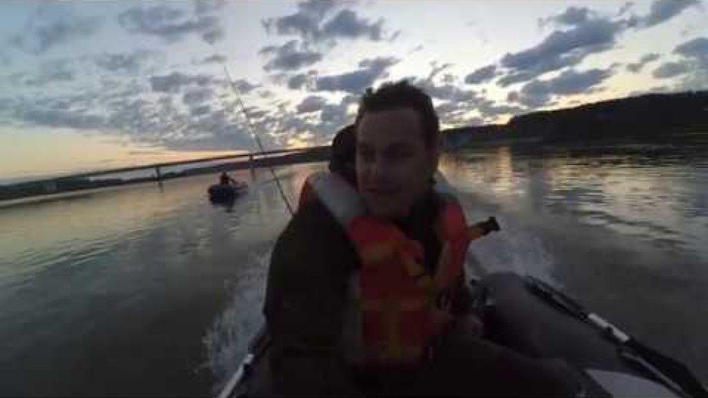 Разведка протоки реки Обь на активность хищника