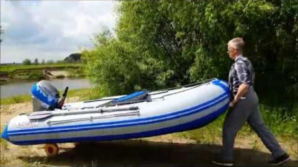 Лодка Азимут Вектор 370 и мотор Honda BF20 speed test best pvc boat