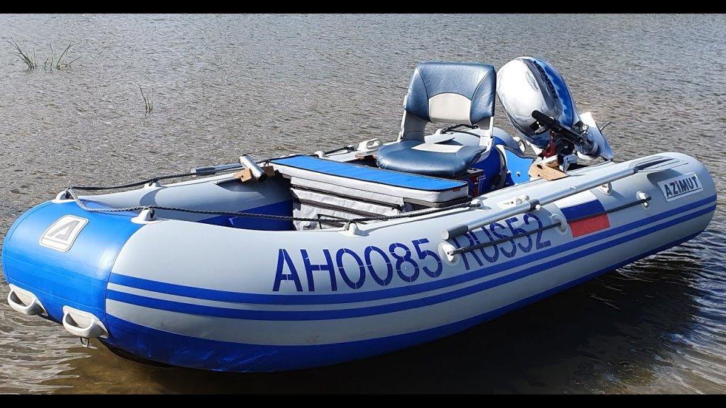 Установка кресла в лодку пвх  тест на воде