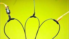 Топ 3 как привязать поводки чтобы они не путались | отводной поводок для крючка | рыболовные узлы