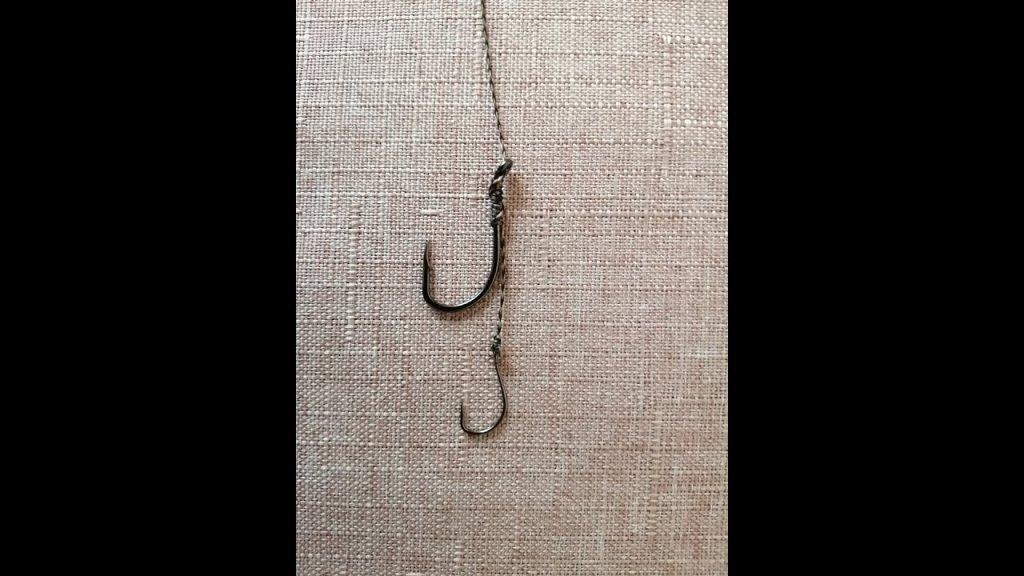 Необычная, доработанная волосяная оснастка с двумя крючками