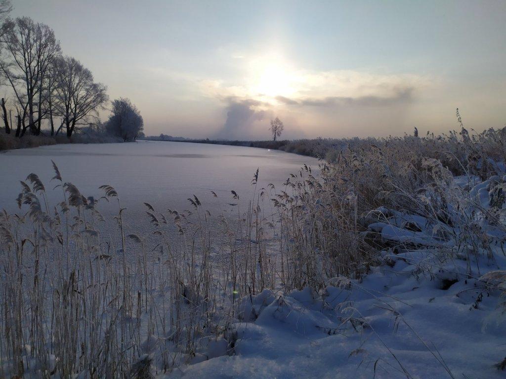Озеро глухое, первый лед
