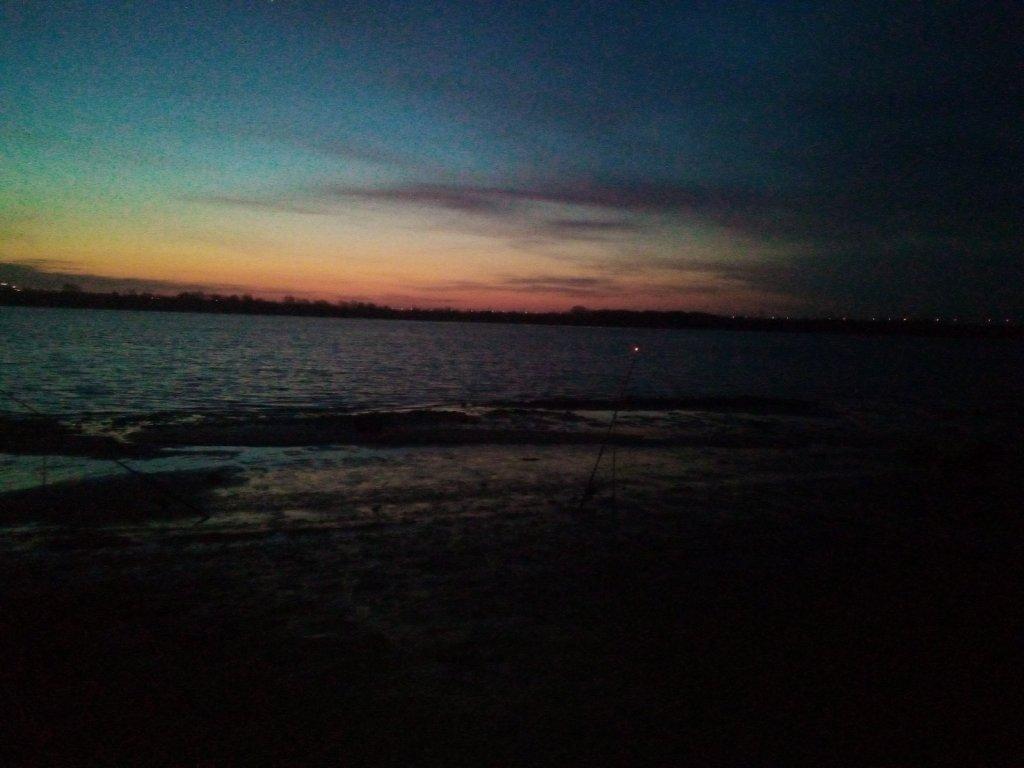 Рассвет на Обь ГЭСе.