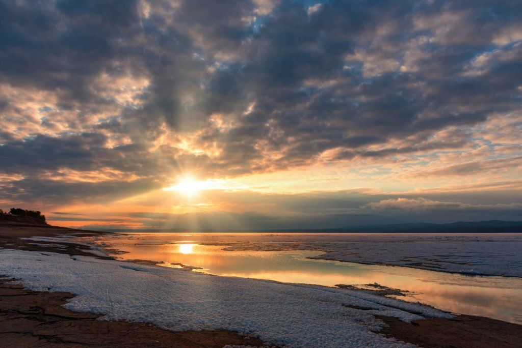 Утро на Красноярском водохранилище