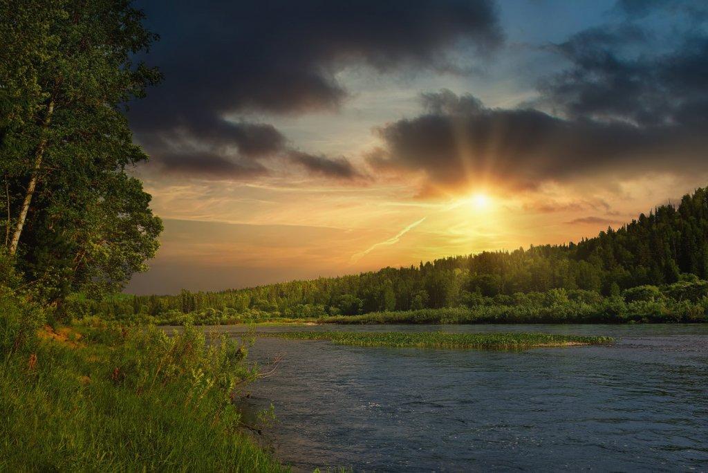 Вечер на реке Мрас Су.