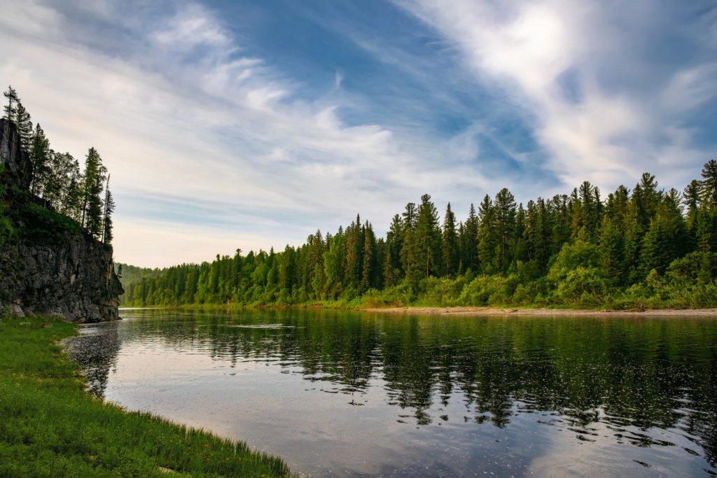 Таёжная речка в Горной Шории