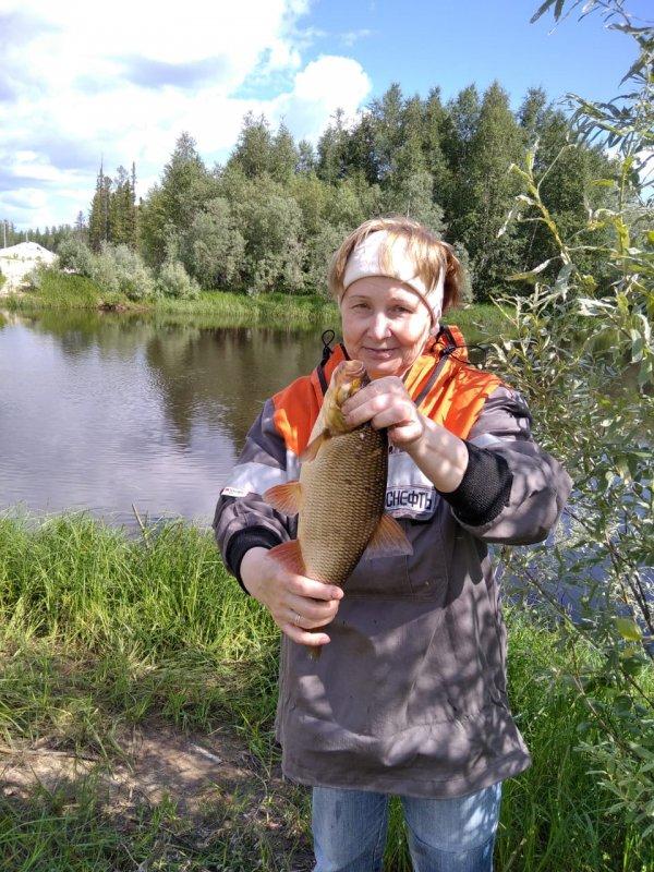 Перва рыбка моя.