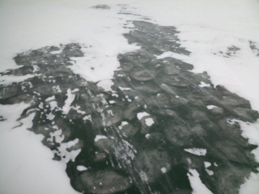 Лёд цвета хаки.