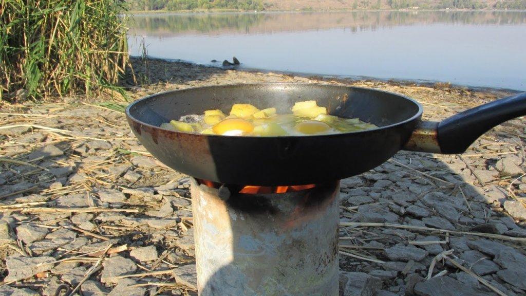 Самодельная печка для рыбалки