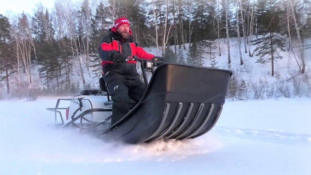 Штурмуем горы на мотобуксировщике Балтмоторс Snowdog Twin Pro!