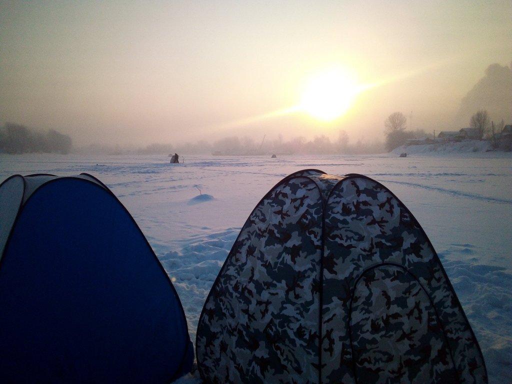 Морозное утро в Затоне.