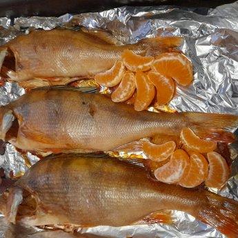 Окушок тань-ваньский, запечённый на Старый Новый год.