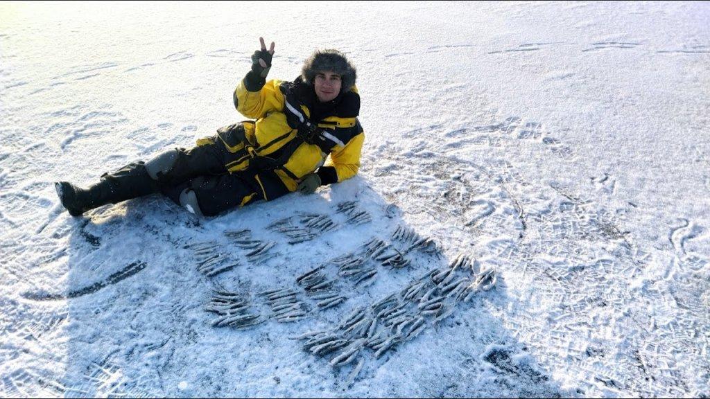 Ловля корюшки на Финском заливе. Открытие сезона 2021