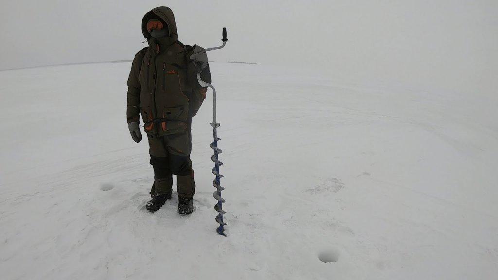 Ловля СУДАКА на блесну зимой. Блесна Судачья с пупыркой от ЭКОПРО.