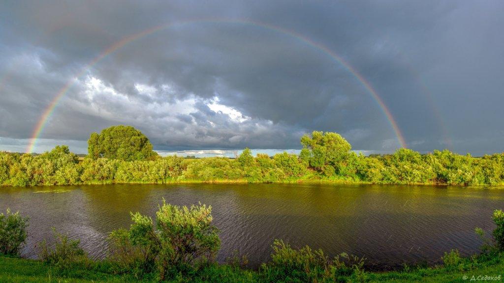 Двойная радуга над речкой Карасук.
