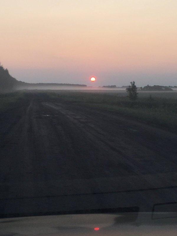 Дорога на озеро Степное